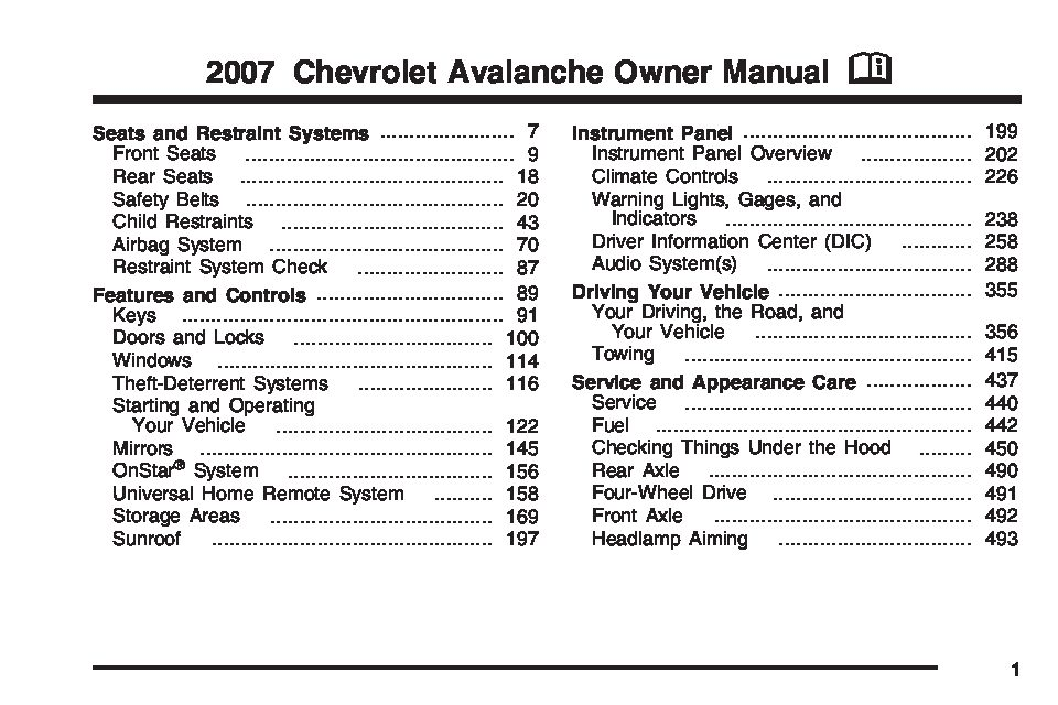 2007 chevrolet avalanche owners manual just give me the damn manual rh justgivemethedamnmanual com 2007 Chevy Avalanche Z71 2006 Chevy Avalanche