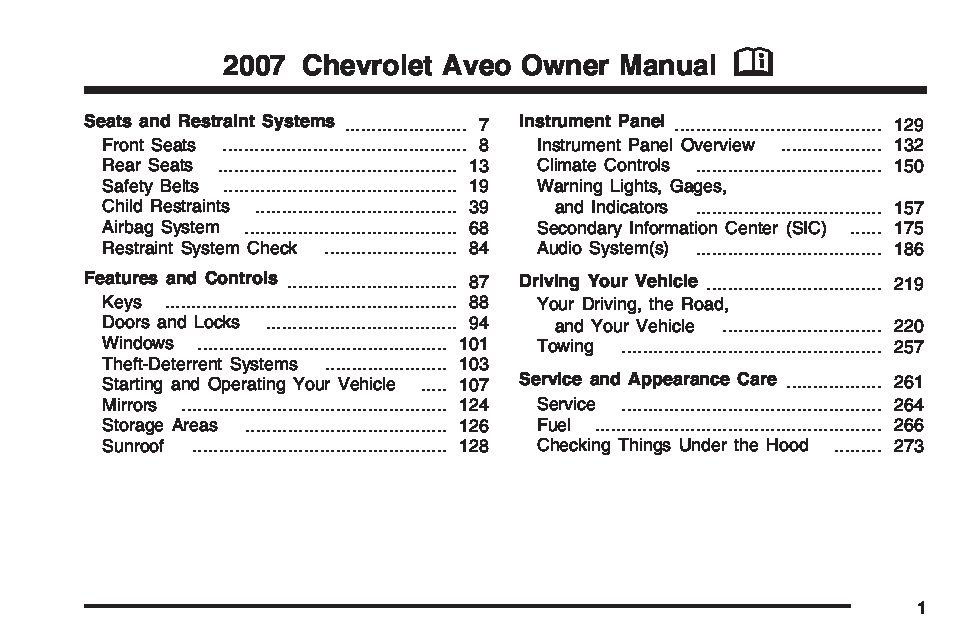 2007 chevrolet aveo owners manual just give me the damn manual rh justgivemethedamnmanual com 2006 Chevrolet Aveo Engine 2006 Chevrolet Aveo MPG