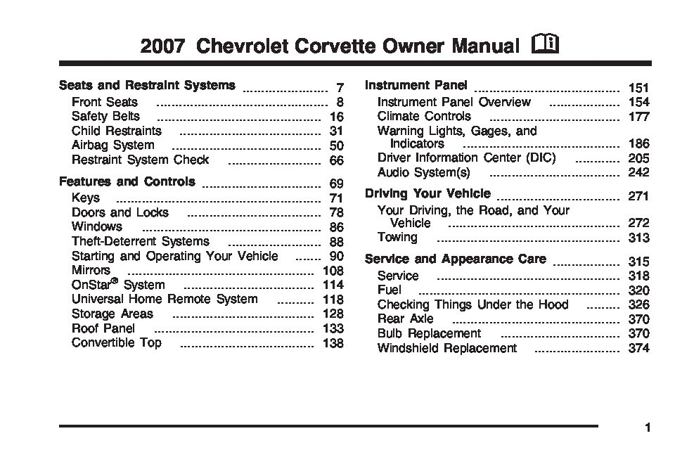 2007 chevrolet corvette owners manual just give me the damn manual rh justgivemethedamnmanual com 2007 corvette z06 owners manual 2007 corvette owners manual