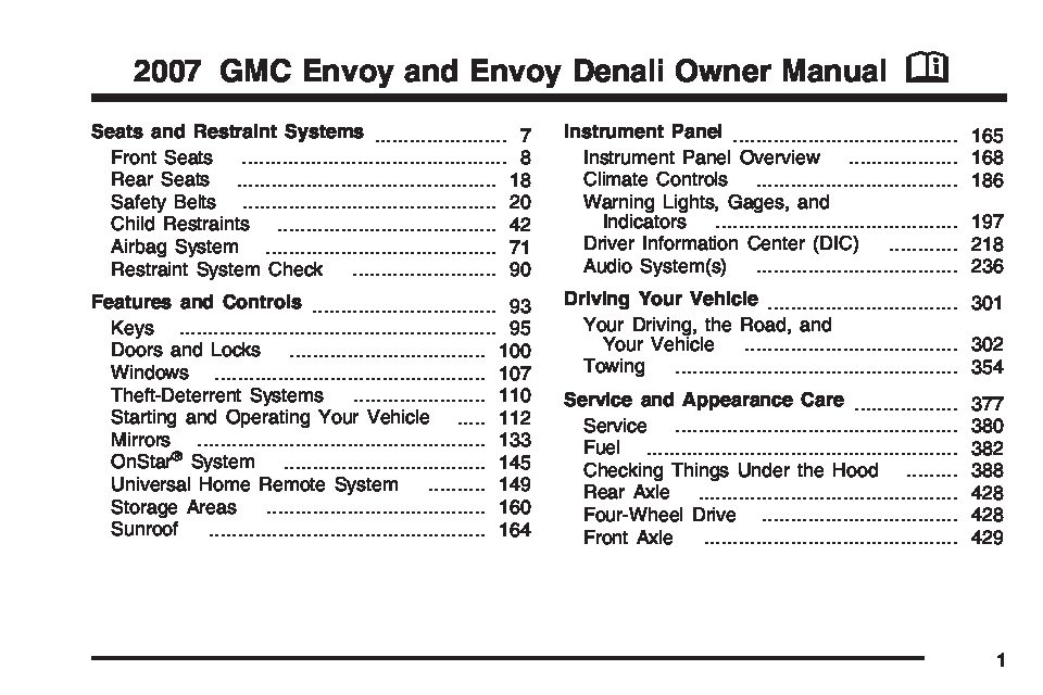 2007 gmc envoy owners manual just give me the damn manual rh justgivemethedamnmanual com manual gmc envoy 2002 español manual gmc envoy 2006