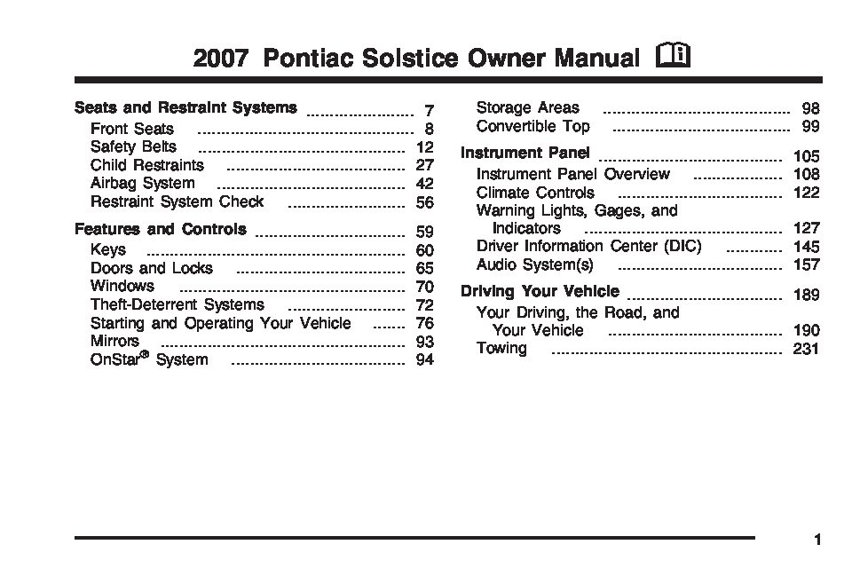 2007 pontiac solstice owners manual just give me the damn manual rh justgivemethedamnmanual com 2007 pontiac solstice owner's manual pdf 2007 pontiac solstice gxp owners manual