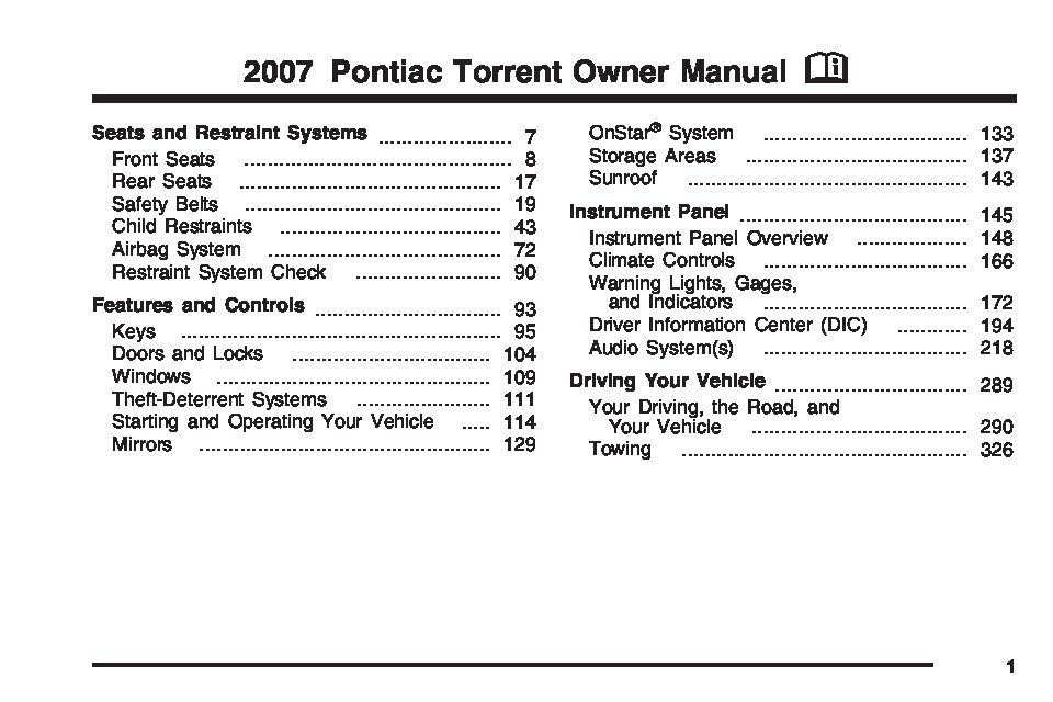 2007 Pontiac Torrent Owners Manual Just Give Me The Damn