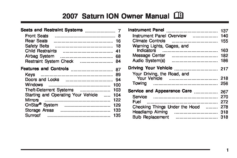 2007 saturn ion owners manual just give me the damn manual rh justgivemethedamnmanual com 2007 Saturn Ion Coupe 2007 Saturn Ion Exhaust System