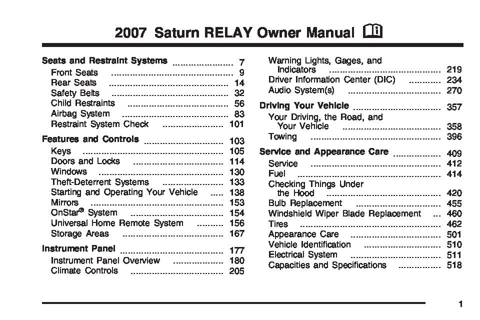2007 saturn relay owners manual just give me the damn manual rh justgivemethedamnmanual com 2005 saturn relay owner's manual 2005 saturn relay owner's manual