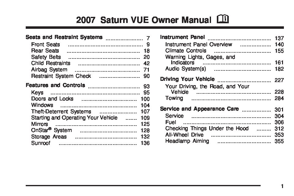 2007 saturn vue owners manual just give me the damn manual rh justgivemethedamnmanual com 2007 saturn vue service manual pdf 2007 saturn vue service manual