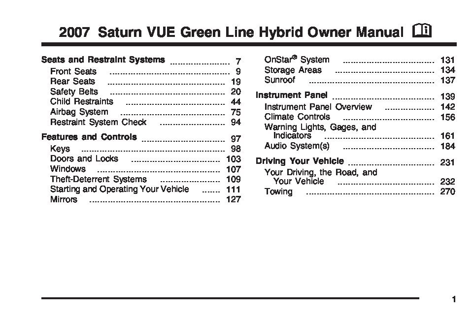 2007 Saturn Vue Hybrid Owners Manual Just Give Me The border=