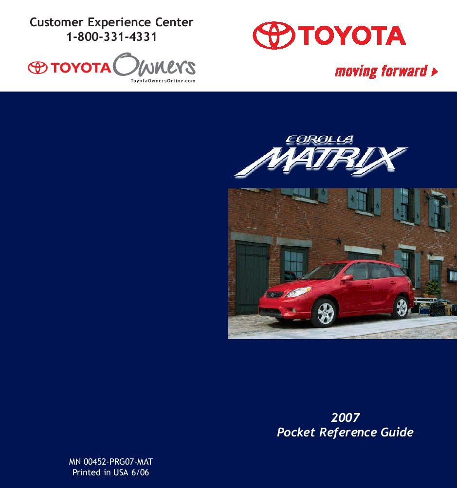 2007 toyota matrix owners manual just give me the damn manual rh justgivemethedamnmanual com 2007 toyota matrix owners manual 2006 toyota matrix owners manual