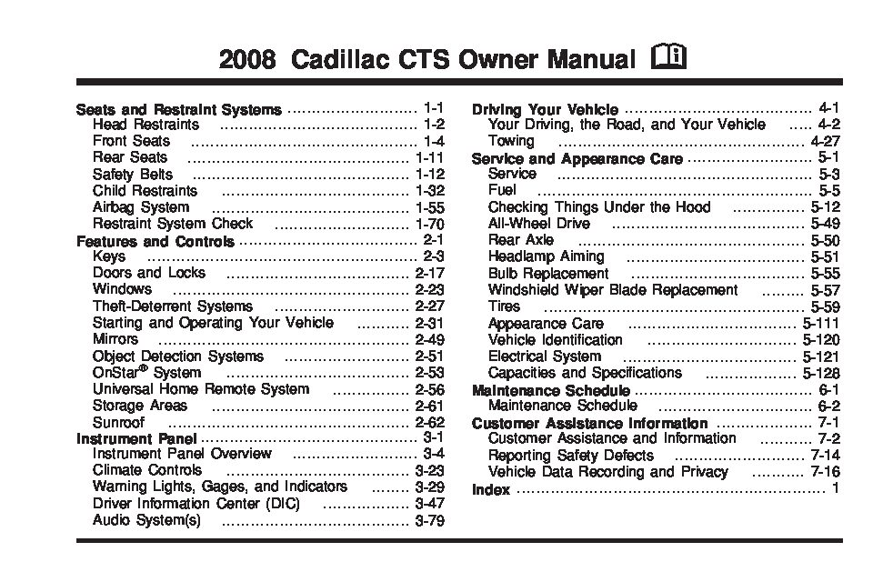 cts service manual daily instruction manual guides u2022 rh testingwordpress co cts v owners manual cts v owners manual
