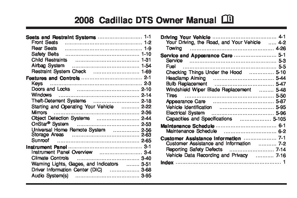 2008 cadillac dts owners manual just give me the damn manual rh justgivemethedamnmanual com 2008 cadillac dts repair manual pdf 2008 cadillac dts repair manual pdf