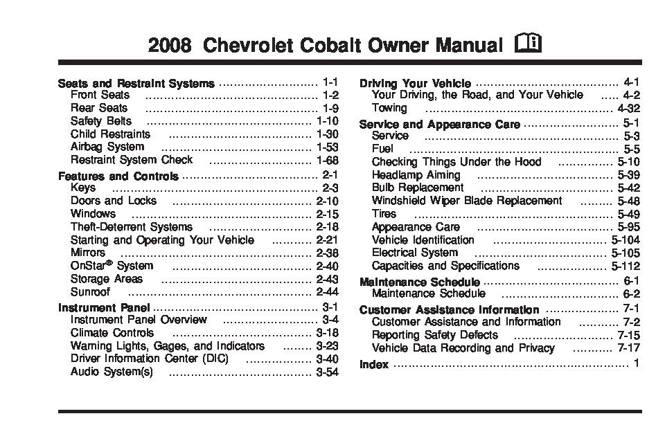 gm cobalt owners manual browse manual guides u2022 rh trufflefries co chevy cobalt owners manual 2008