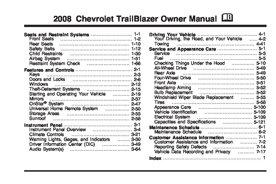 2008 chevrolet trailblazer owners manual just give me the damn manual rh justgivemethedamnmanual com 2007 Chevy Trailblazer SS free 2007 chevy trailblazer owners manual