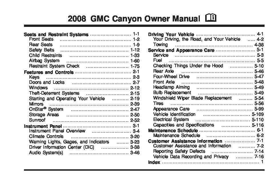 2008 gmc canyon owners manual just give me the damn manual rh justgivemethedamnmanual com gmc canyon owner's manual gmc canyon owners manual 2008