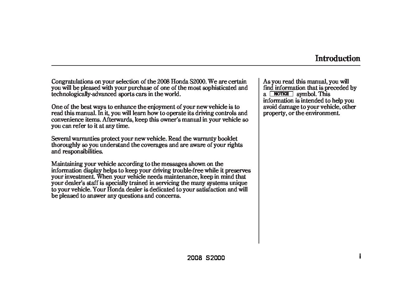 2008 honda s2000 owners manual just give me the damn manual rh justgivemethedamnmanual com 2007 honda s2000 owner's manual honda s2000 service manual free download