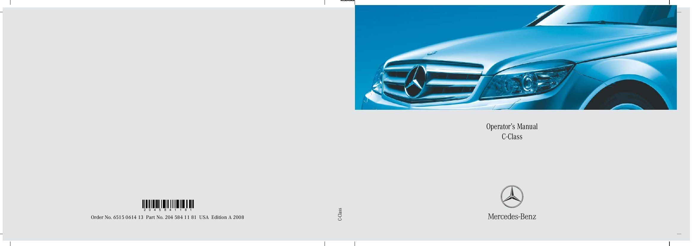 2008 c300 owners manual
