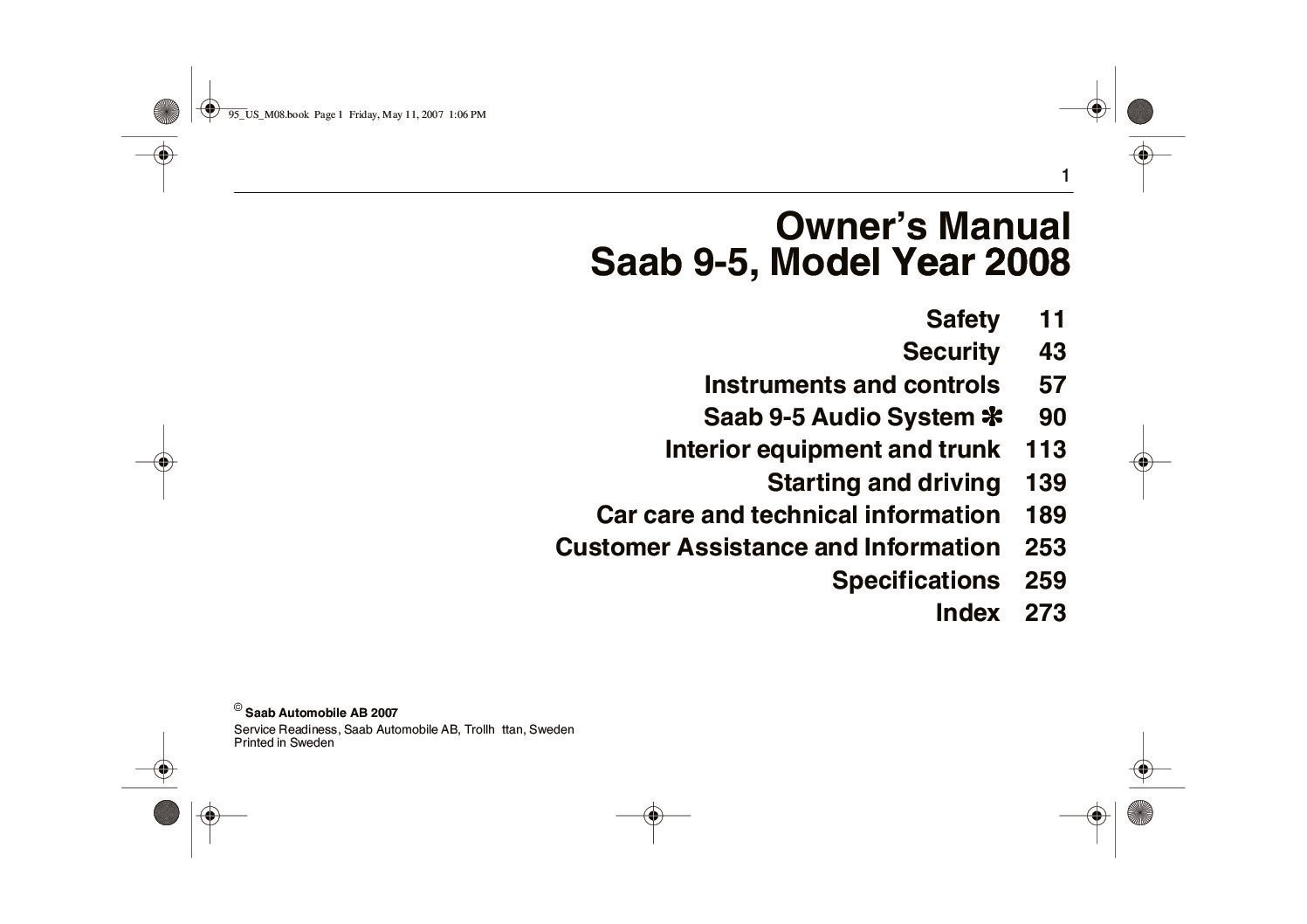 2008 saab 9 5 owners manual just give me the damn manual rh justgivemethedamnmanual com 2011 saab 9-5 service manual saab 9-5 wis service manual