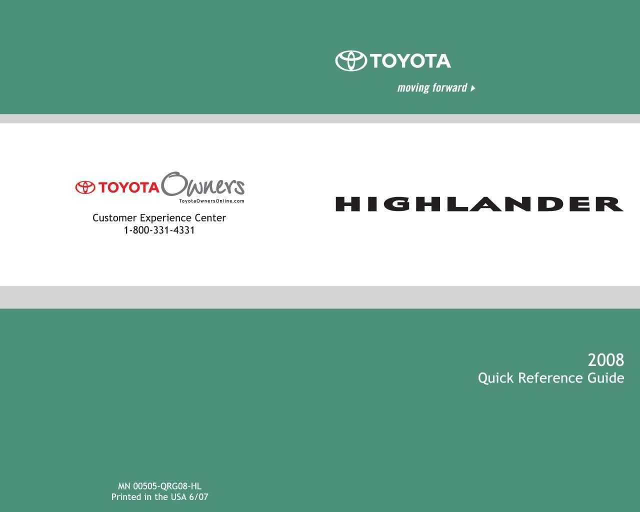 Toyota Highlander Owners Manual: Display contents