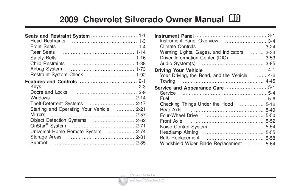 2009 chevy silverado 1500 lt owner s manual owners manual just