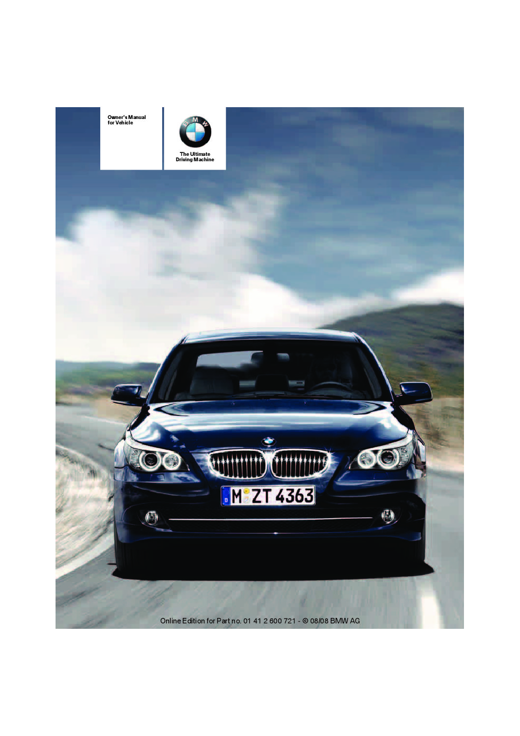2009 bmw 5 series owners manual just give me the damn manual rh justgivemethedamnmanual com 2007 BMW 5 Series 2007 BMW 5 Series