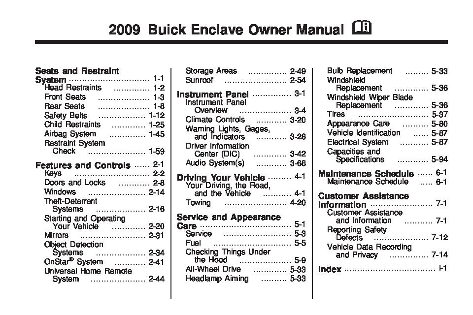 2009 buick enclave owners manual just give me the damn manual rh justgivemethedamnmanual com 2006 buick lucerne owners manual buick lucerne owners manual 2007