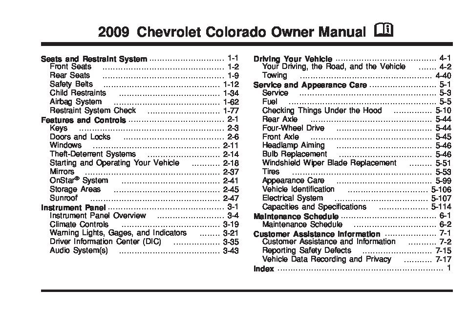 2012 chevy colorado maintenance schedule