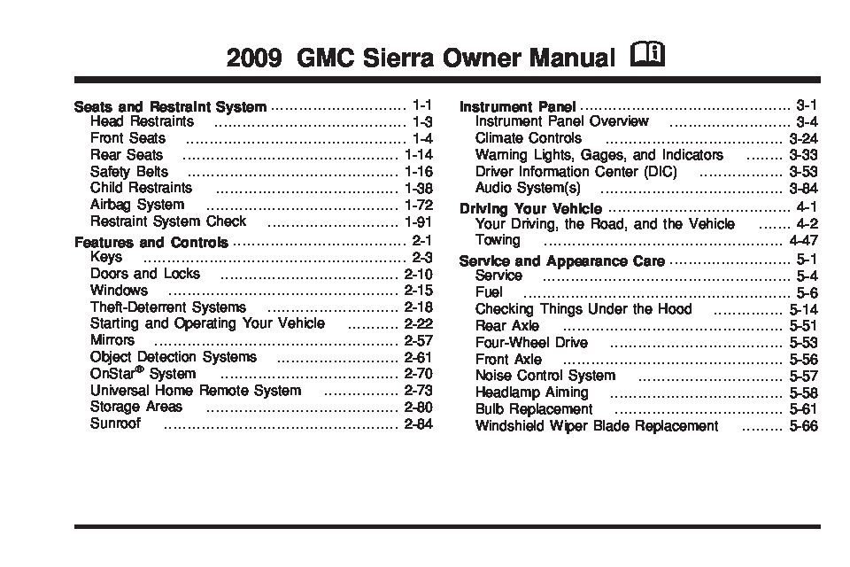 2009 gmc sierra owners manual just give me the damn manual rh justgivemethedamnmanual com 2009 gmc sierra 1500 sle owners manual 2009 gmc sierra service manual