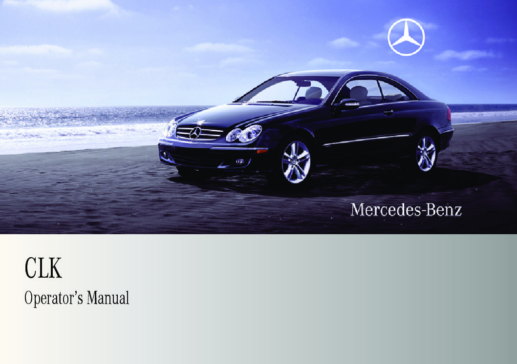 2009 mercedes-benz clk-class coupe Owner's Manual