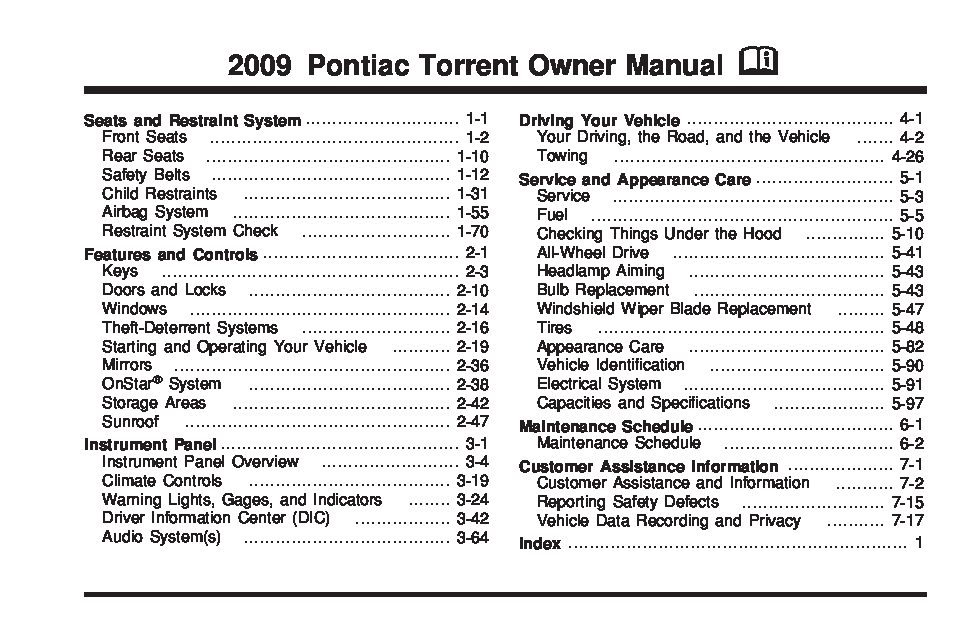 2009 Pontiac Torrent Owners Manual Just Give Me The Damn