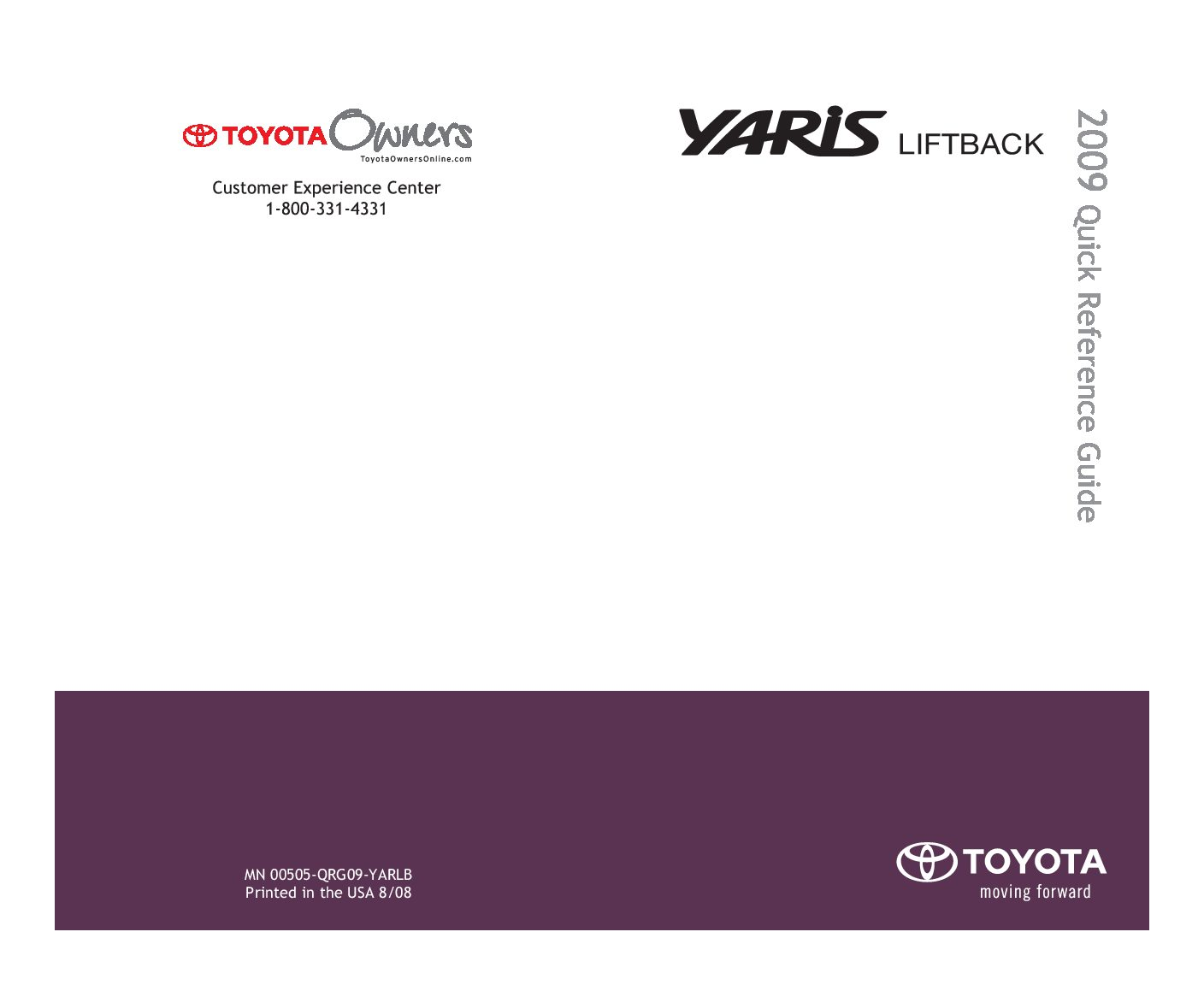 toyota yaris hatchback owners manual  give