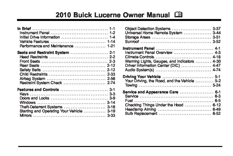 2010 buick lucerne owners manual just give me the damn manual rh justgivemethedamnmanual com owners manual for 2006 buick lucerne repair manual for 2008 buick lucerne