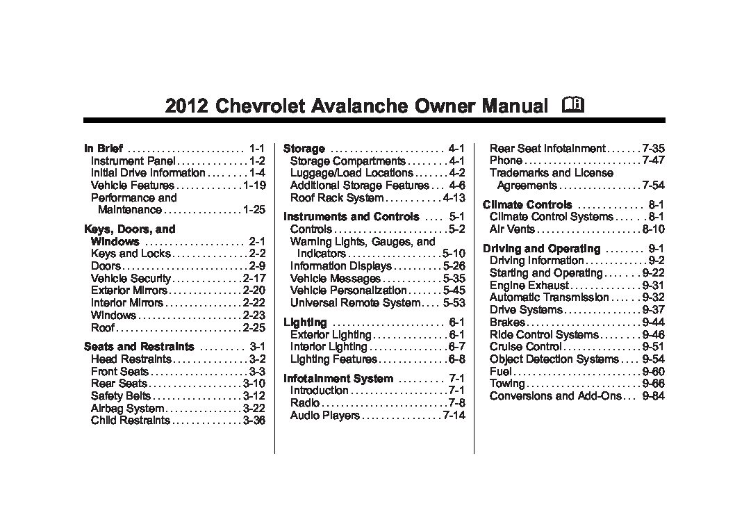 2010 chevrolet avalanche owners manual just give me the damn manual rh justgivemethedamnmanual com 2003 Chevrolet Avalanche Accessories 2004 chevrolet avalanche owners manual