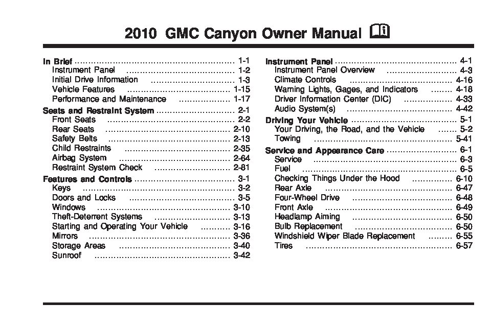 2010 gmc canyon owners manual just give me the damn manual rh justgivemethedamnmanual com gmc canyon owners manual 2018 gmc canyon owners manual 2015