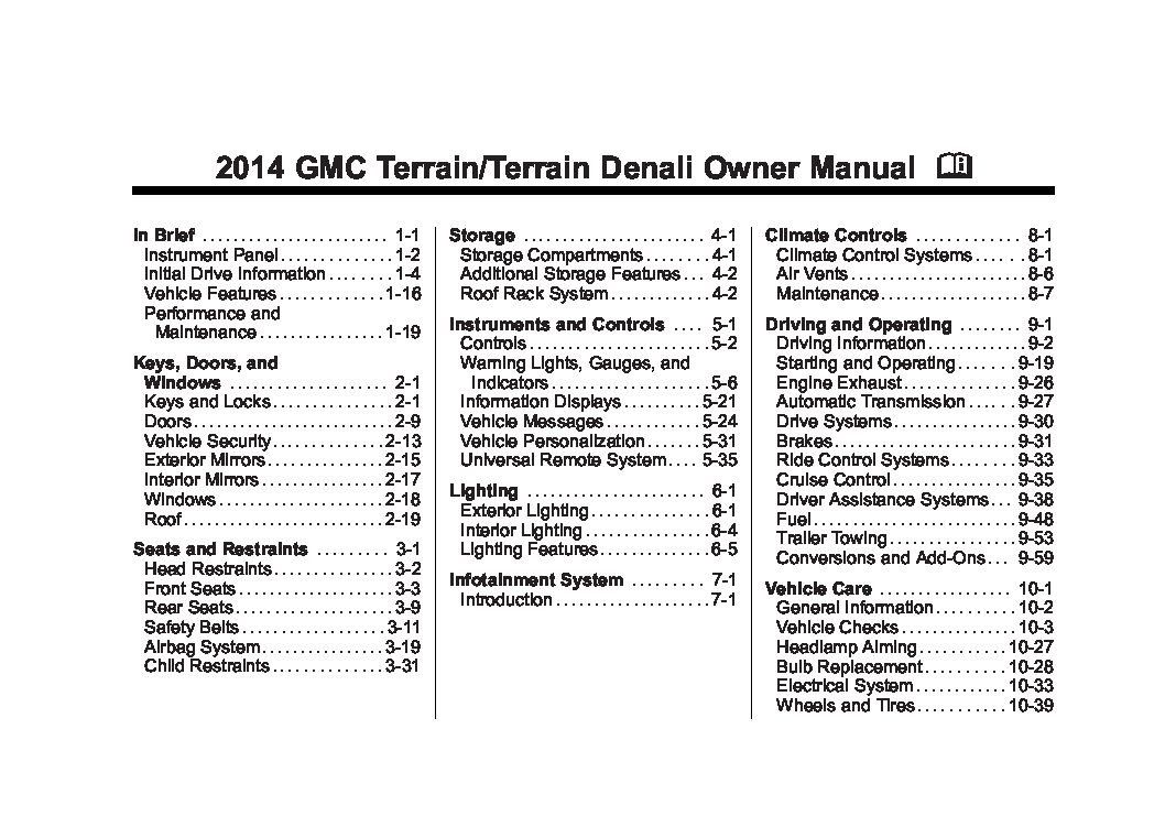 gmc terrain owners manual  give   damn manual