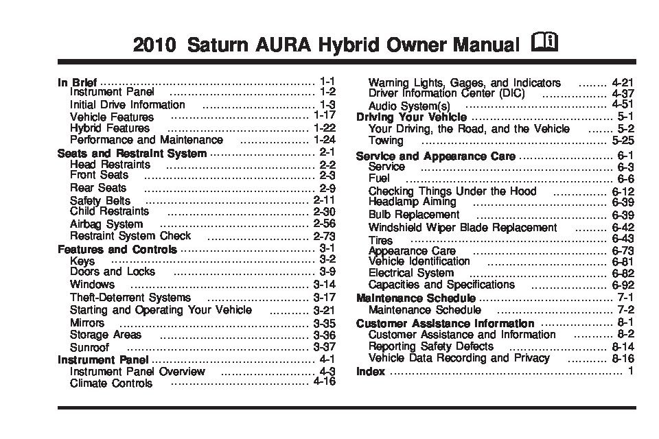 2010 ford escape hybrid owners manual