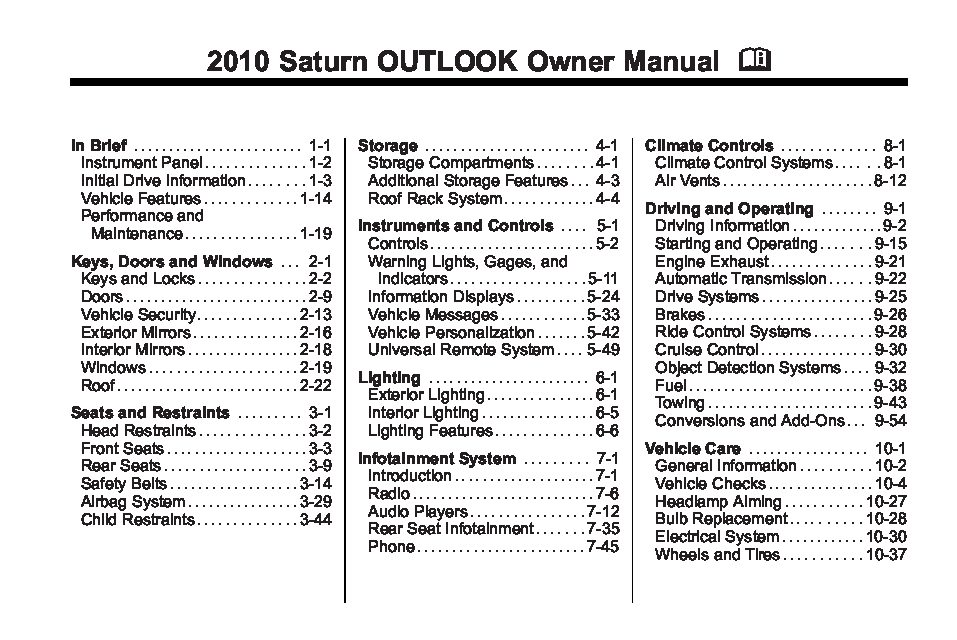2010 saturn outlook owners manual just give me the damn manual rh justgivemethedamnmanual com 2007 saturn outlook service manual 2007 saturn outlook service manual