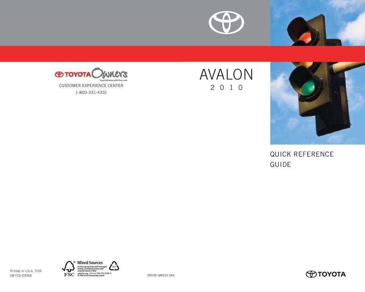 2010 toyota avalon owners manual just give me the damn manual rh justgivemethedamnmanual com 2000 Avalon 2014 Avalon