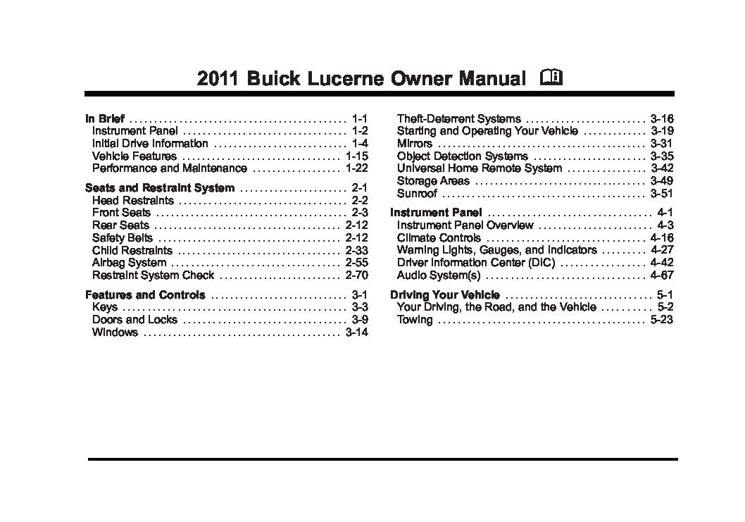 2011 buick lucerne owners manual just give me the damn manual rh justgivemethedamnmanual com owners manual buick verano owners manual buick lacrosse 2006