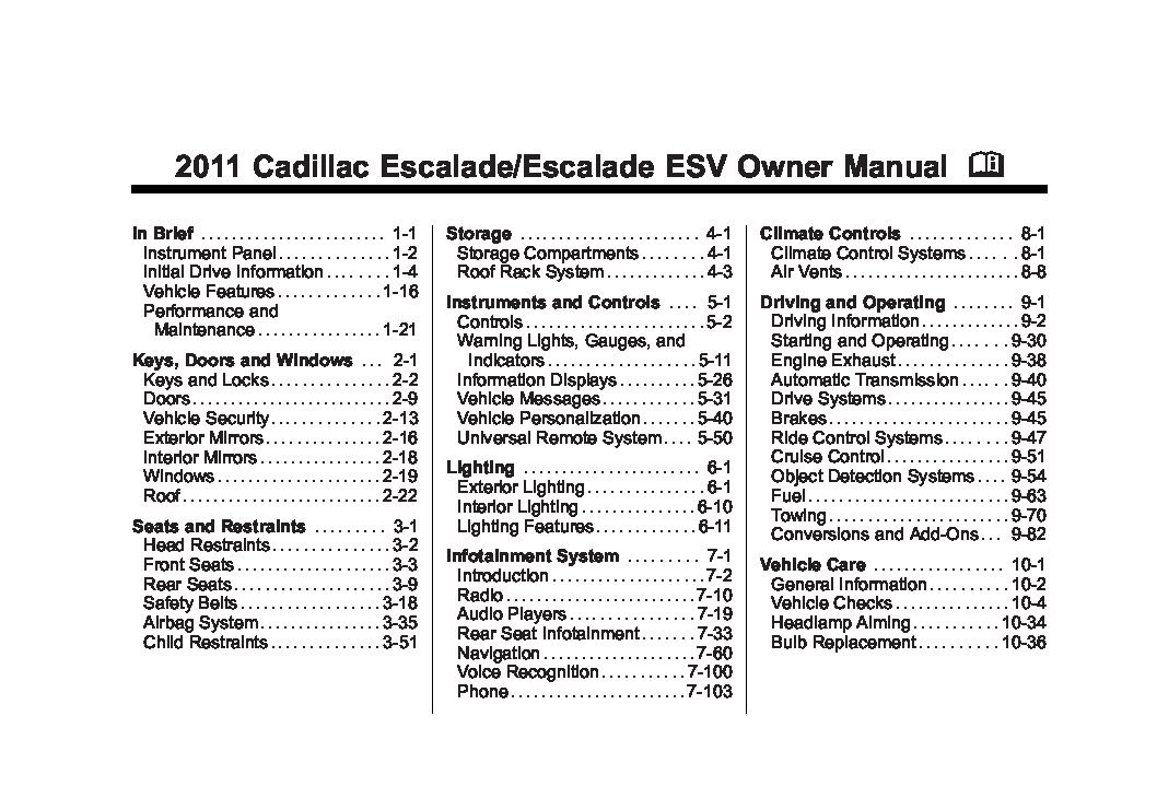 Cadillac Escalade on 2002 Hyundai Elantra Owners Manual