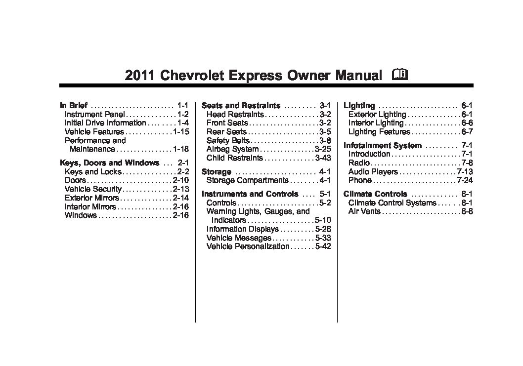 2011 chevrolet express owners manual just give me the damn manual rh justgivemethedamnmanual com 2015 Chevrolet Express 2006 Chevrolet Express