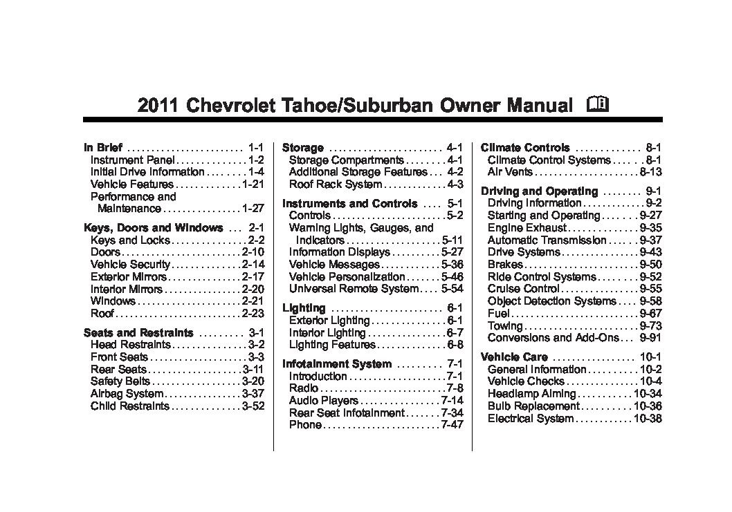 2011 chevrolet suburban owners manual just give me the damn manual rh justgivemethedamnmanual com 2011 chevy suburban 1500 owner's manual 2011 chevrolet suburban ltz owner's manual