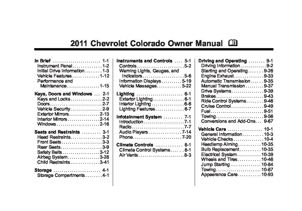 Chevrolet colorado 2004-2010 service repair manual. Pdf by guang.
