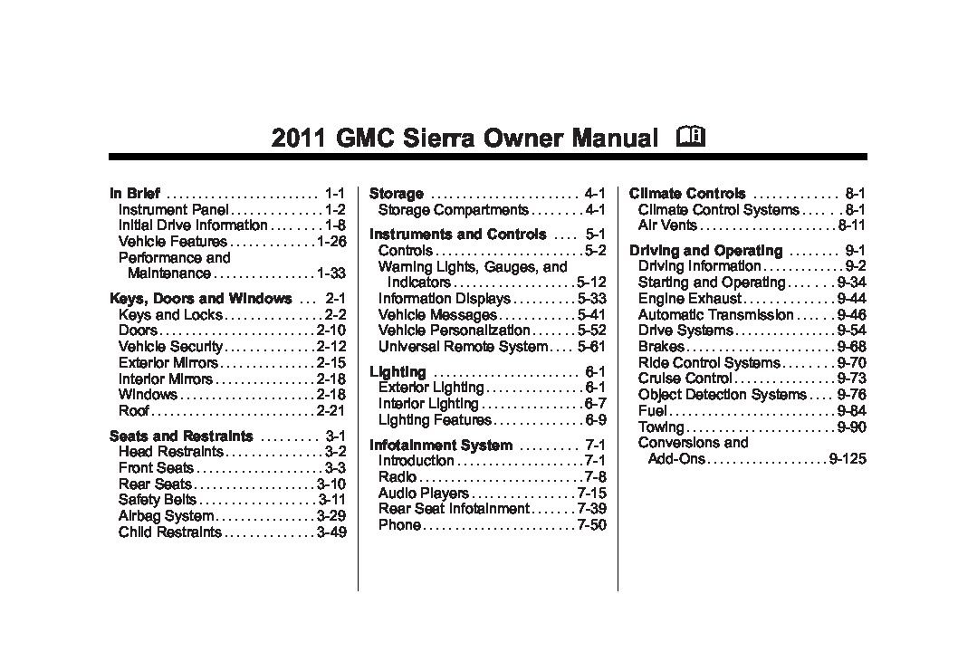 2011 gmc sierra owners manual just give me the damn manual rh justgivemethedamnmanual com 2008 gmc sierra 2500hd duramax owners manual 2008 gmc sierra owners manual pdf