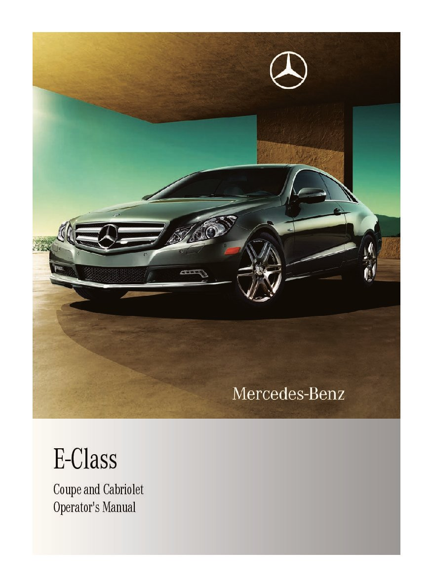 2011 mercedes-benz e-class coupe Owner's Manual