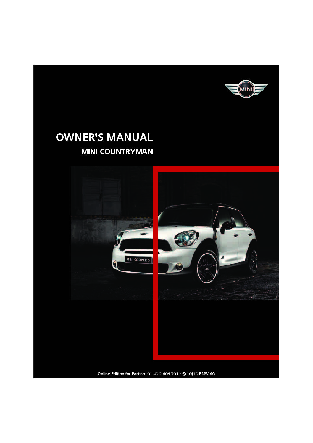 2011 mini countryman owners manual just give me the damn manual rh justgivemethedamnmanual com 2011 mini cooper s countryman owners manual 2011 mini cooper countryman s all4 owners manual
