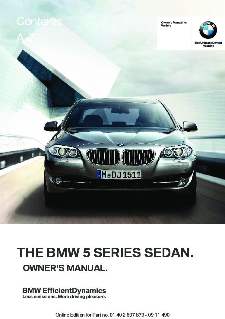 2012 bmw 5 series owners manual just give me the damn manual rh justgivemethedamnmanual com bmw 550i service manual bmw 550i service manual