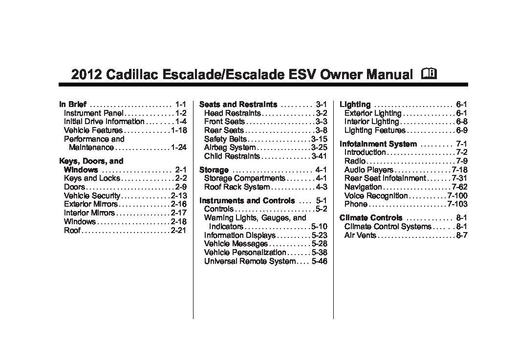 2012 cadillac escalade owners manual just give me the damn manual rh justgivemethedamnmanual com 2013 cadillac escalade owners manual 2013 cadillac escalade owners manual
