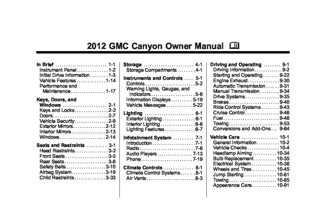 2012 gmc canyon owners manual just give me the damn manual rh justgivemethedamnmanual com gmc canyon owners manual 2016 gmc canyon owner's manual 2018