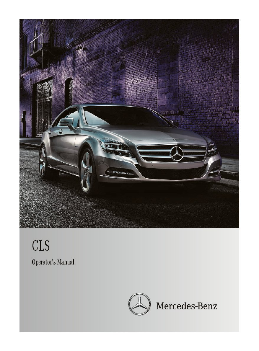 2012 mercedes benz cls class owners manual just give me the damn rh justgivemethedamnmanual com mercedes glk repair manual mercedes cls user manual
