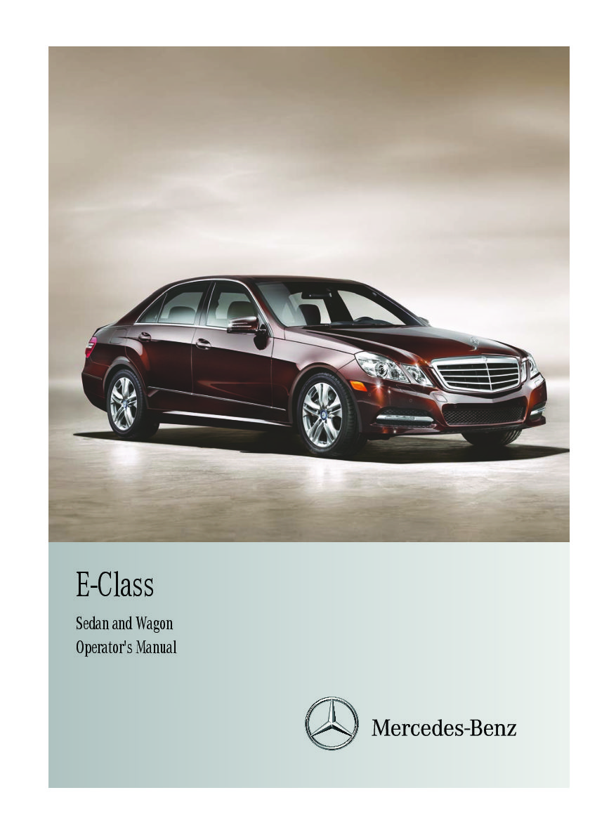 2012 mercedes-benz e-class sedan-and-wagon Owner's Manual