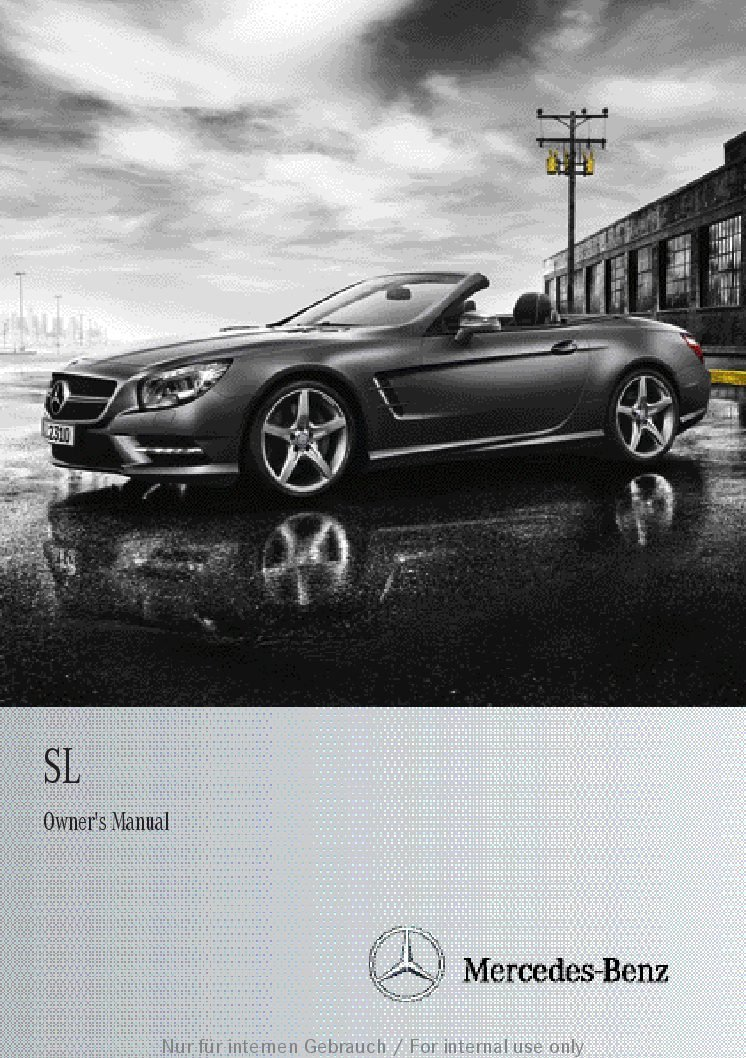 Service manual 2012 mercedes benz sl class owners manual for 2003 mercedes benz sl500 owners manual