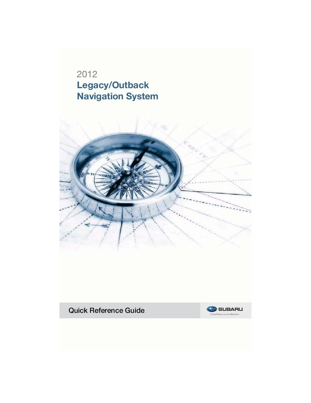 2012 subaru legacy-and-outback navigation-system Owner's Manual
